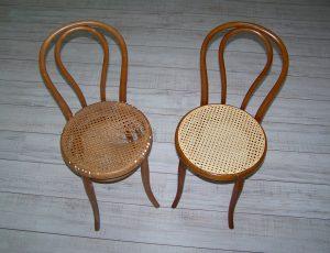 Chaises cannées avant-après